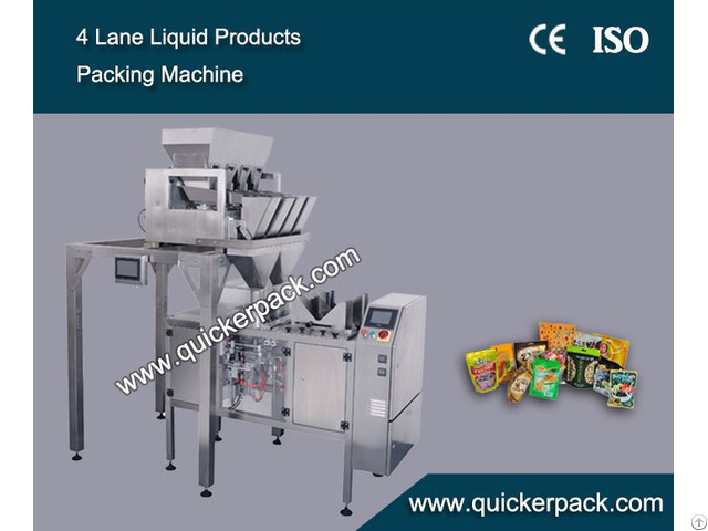 Pre Made Ziplock Bag Dried Fruits And Vegetables Packing Machine