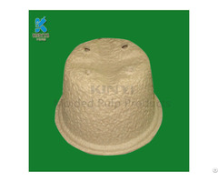 Eco Friendly Paper Pulp Molded Garden Pots
