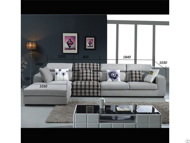 Sectional Sofa Top Selling Living Room Fabric Leather Furniture Model C698