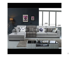 Sectional Sofa Top Selling Living Room Fabric And Leather Furniture Model C698