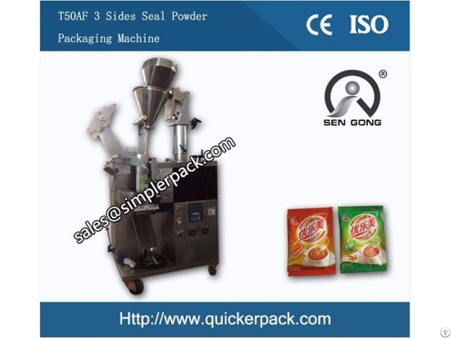 Automatic Three Sides Sealing Powder Packaging Machine