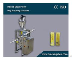 Round Edge Center Seal Pillow Bag Packing Machine