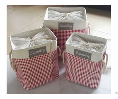 Sell Cotton Laundry Basket 1