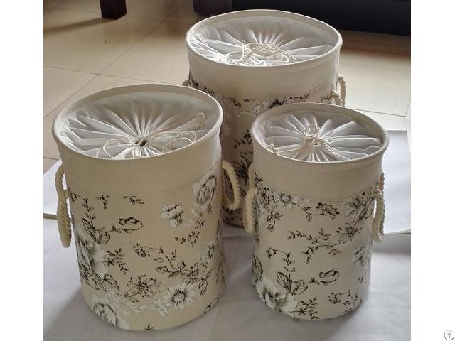 Sell Cotton Fabric Laundry Basket 2