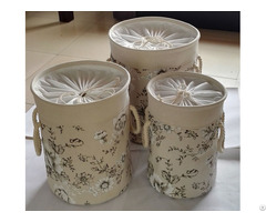 Sell Cotton Fabric Laundry Basket 2