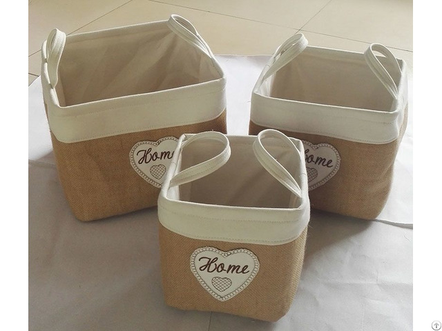 Sell Cotton Fabric Laundry Basket 3