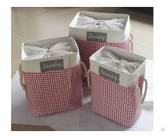 Sell Eva Cotton Fabric Laundry Basket 4