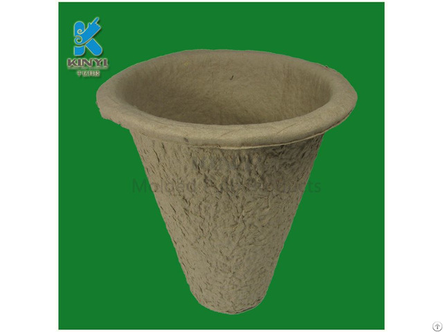 Recycled Fiber Pulp Flower Pots Tray