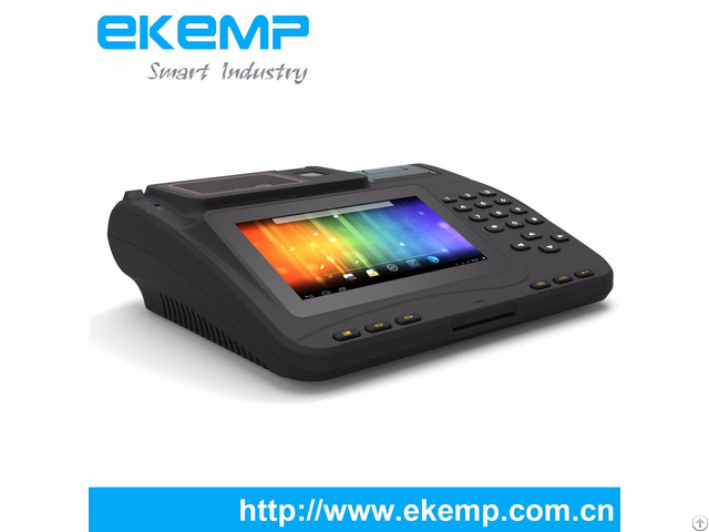 Ekemp P7 Android Tablet Pos Terminal With 7 Inch Touch Screen