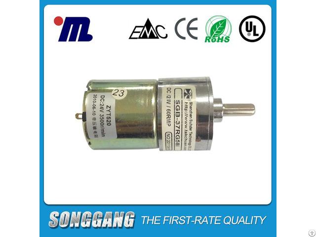 37mm Diameter 12volt Dc Gear Motor