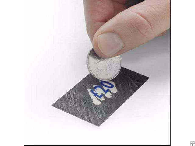 Zebra Scratch Off Foil Stickers