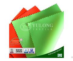 Environmental Low Formaldehyde En20471 Poly Cotton Satin Hi Viz Yellow Fabric For Safety Workwear