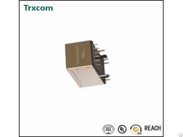 Pulse Products Vertical Rj45 Connector With 10 100 Magnetic Trjd0011bgnl