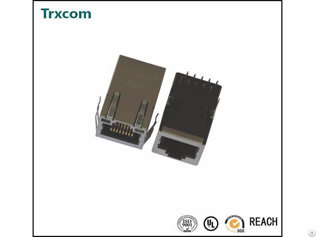 100m Single Port Tab Down 21 3mm Length Rj45 Connector Trj0011abnl