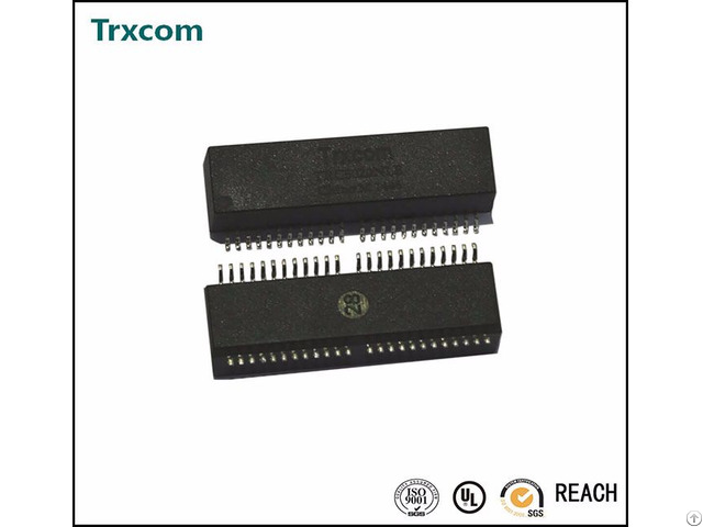1000base Tx Dual Port Smt Type Poe Lan Transformer Trc6080nl