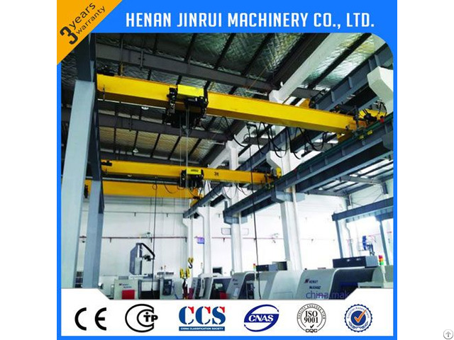 10ton Single Girder European Overhead Bridge Crane