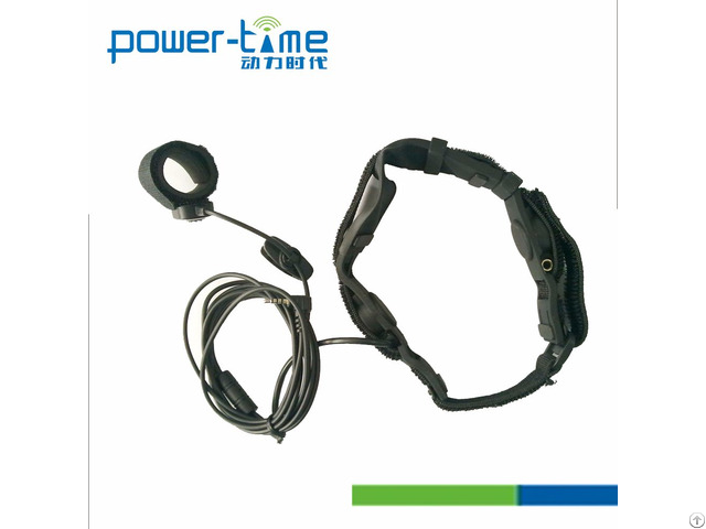 Tactical Waterproof Bone Conduction Throat Microphone For Gp328plus Pte 796