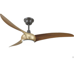 Wave Led Ceiling Fan With Remote Contro