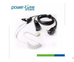 Six Pin Covert Acoustic Tube Earphone Headset For Radio Transmitter Gp328 Plus Pte 880