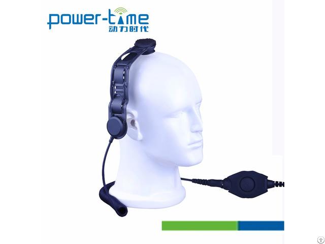 Bone Conduction P25 Radios Headset Microphone Pte 129f