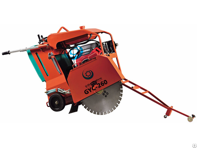 Floor Saw Concrete Cutter With Electric Start 16 5kw 22 1hp Honda Gx690 Engine Ce