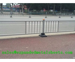 Expanded Metal Isolation Fence