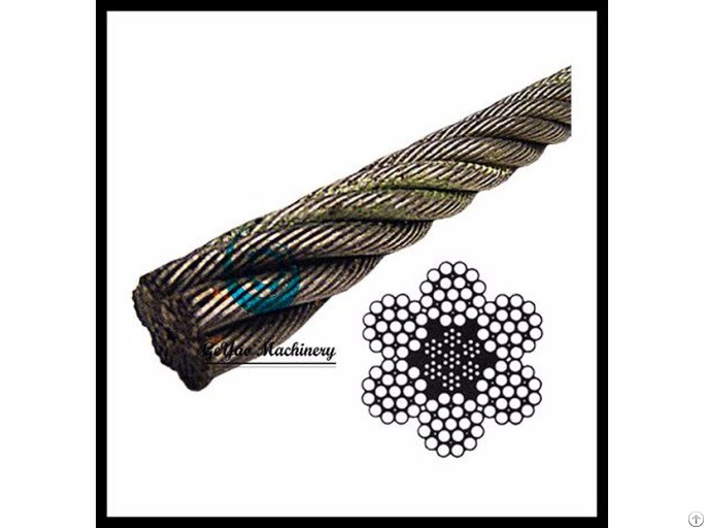 Bright Wire Rope Eips Iwrc 6x19 Class Lineal Foot
