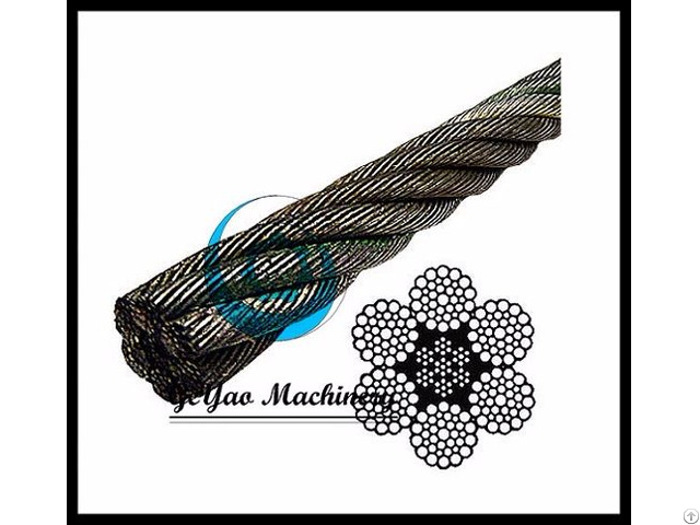 Bright Wire Rope Eips Iwrc 6x37 Class Lineal Foot
