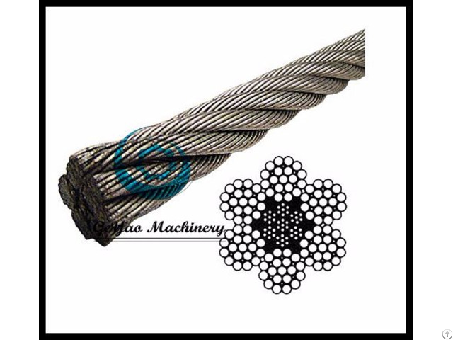 Galvanized Wire Rope Eips Iwrc 6x19 Class Steel Core