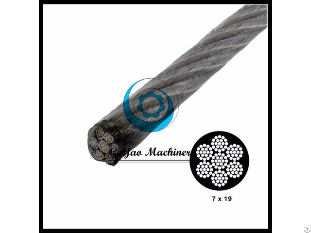 Vinyl Coated Stainless Steel Wire T304 Aircraft Cable Linear Foot