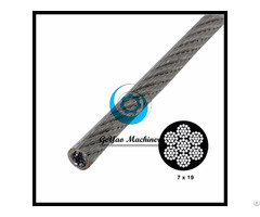 Vinyl Coated Galvanized Steel Cable 7x19 Aircraft Wire Linear Foot