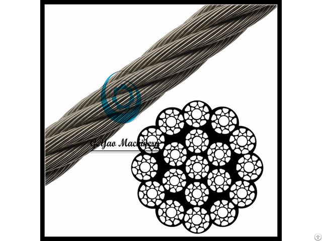 Compacted Bright Wire Rope Eips Iwrc 19x19 Rotation Resistant Linear Foot