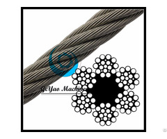 Bright Wire Rope Drill Line Fiber Core 6x21 Linear Foot