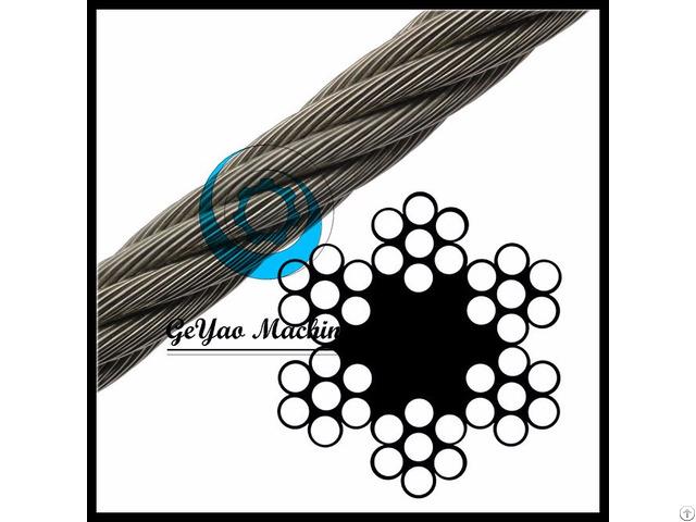 Bright Wire Rope Sand Line Fiber Core 6x7 Linear Foot