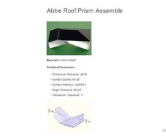 Abbe Roof Prism Assembly
