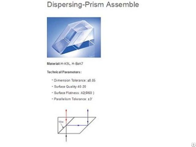 Beam Splitting Prism Assembly