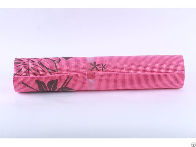 Mily Hot Sale Pvc Non Slip Natural Fiber Yoga Mat Message