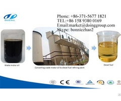 Waste Oil To Diesel Filter Plant