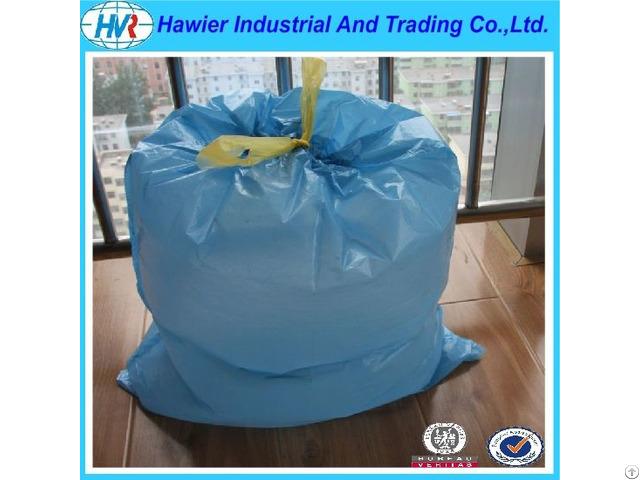 Sample Free Promotional Custom Pe Material Plastic Black Drawstring Bag