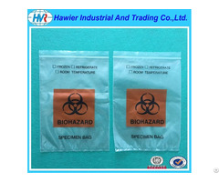Free Samples Specimen Ziplock Bag With Logo Biohazard