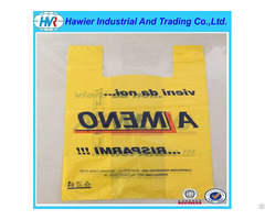 Custom Size Printed Plastic Hdpe T Shirt Bag