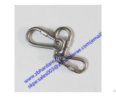 Stainless Steel Safety Snap Hook With Nut