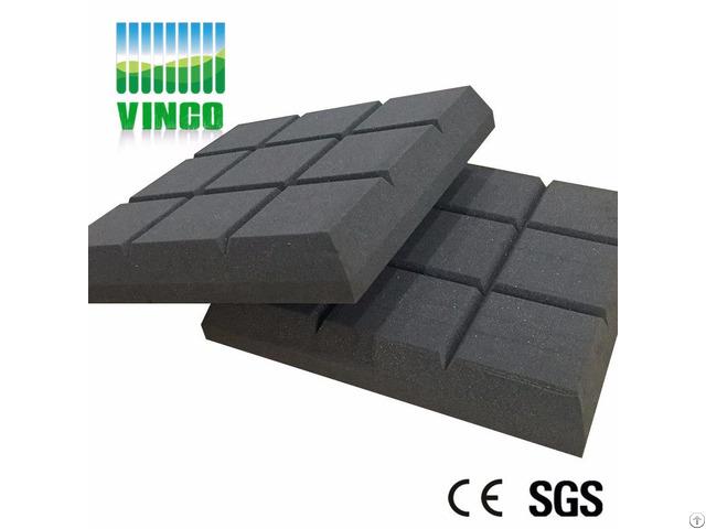 Nine Square Acoustic Sponge Black Polyurethane Foam For Ktv