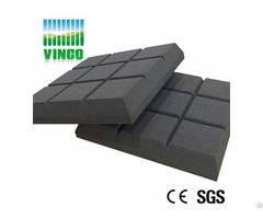 Nine Square Acoustic Sponge Black Polyurethane Foam For Ktv