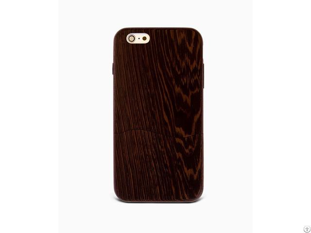 Sau Wenge %100 Wood Case For Iphone 6 6s Plus