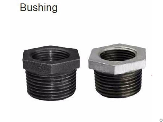 Factory Supply Galvanized And Black Bushing