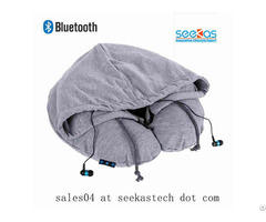 Bluetooth Travel Pillow For Music And Phone Talking Hands Free