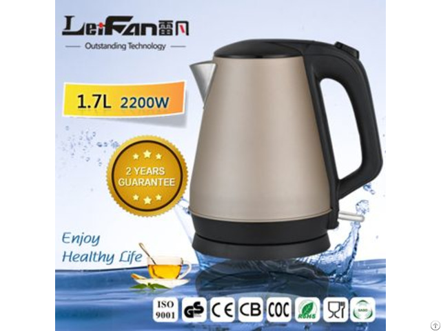 Stainless Steel Electric Kettle Black