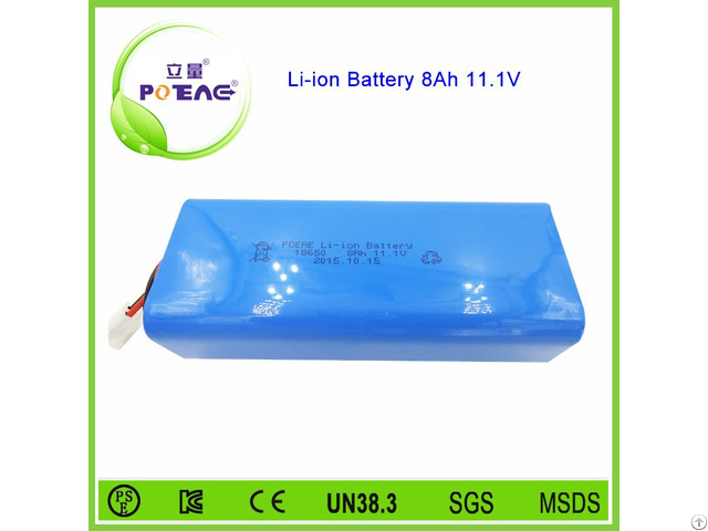 Deep Cycle 18650 3s Rechargeable 12v 8ah Li Ion Battery Pack