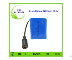 Emergency Lights Rechargeable 2200mah 12v Li Ion Battery Pack